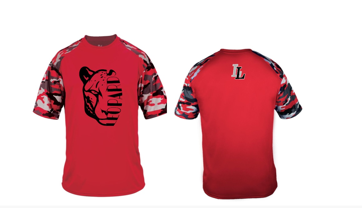 Boys Red Camo Sleeve T-shirt (DriFIT)