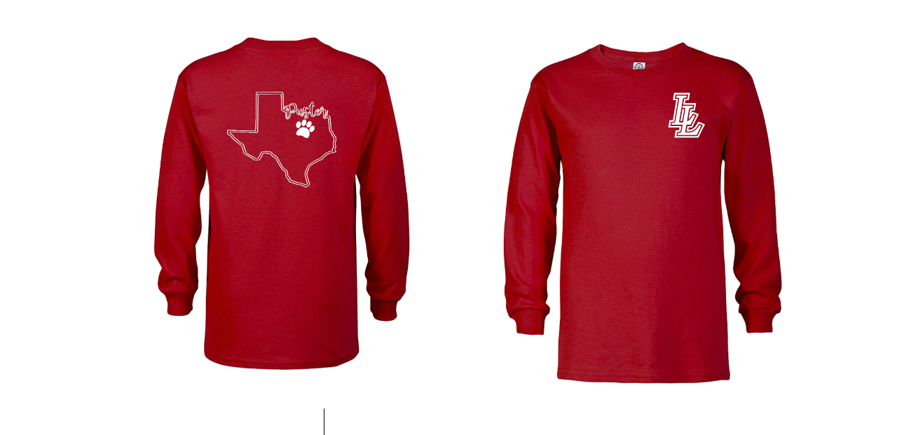 Unisex Red Puster L/S