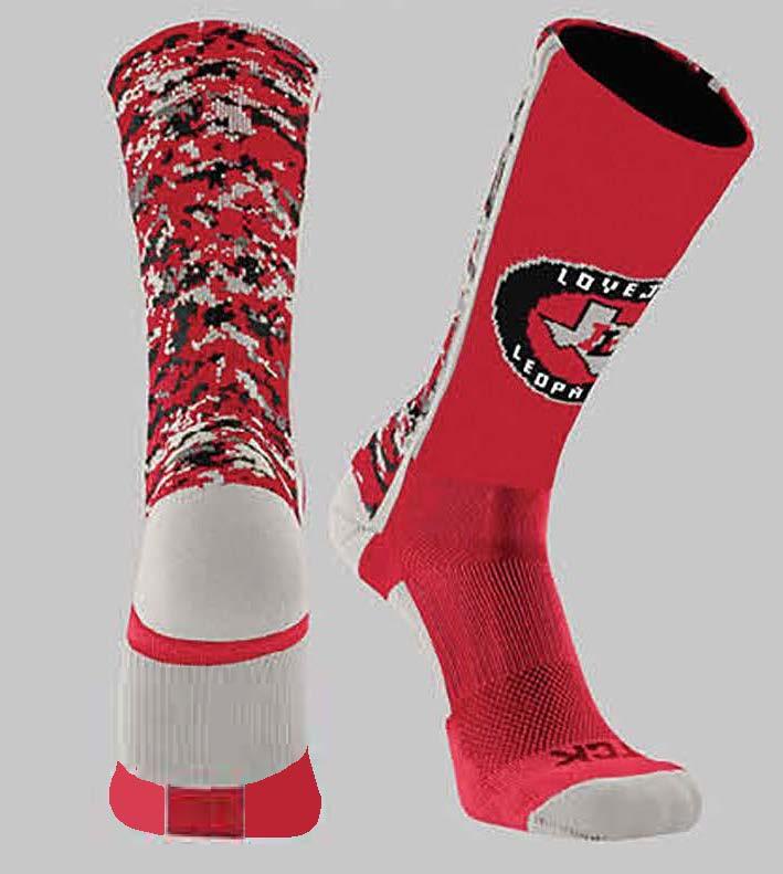 Red Camo Crew Socks